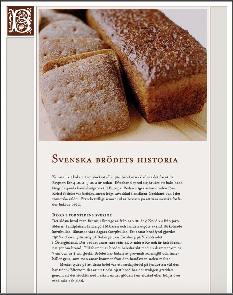 Länk till pdf-dokument om brödets historia